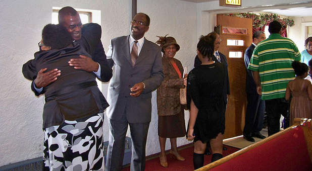 Many churches are doing away with the meet-and-greet during church services.