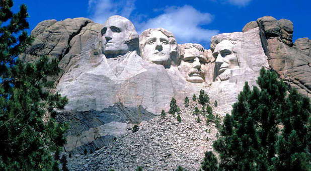 Mount Rushmore (from left): George Washington, Thomas Jefferson, Theodore Roosevelt, Abraham Lincoln