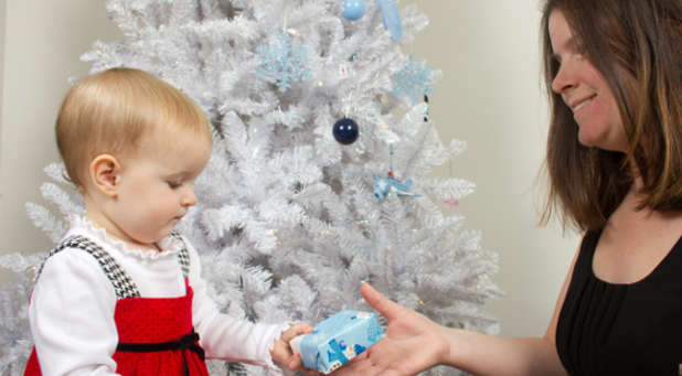 It's never too early to start teaching your children about the joy of giving.